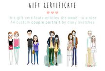 quirky artsy couple illustrations / here're some great illustrations i really want to have some