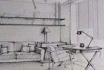 Архитектура, дизайн, наброски