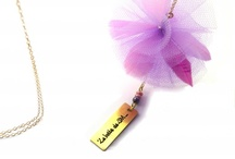 Tulle/ fabric necklace