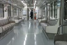 지하철 객실내부 / 5678지하철 객실 내부의 모습