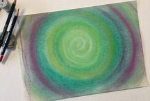 Esperimenti con Gessetti Colorati / My personal experiments with chalks