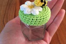 crochet jar/lid covers
