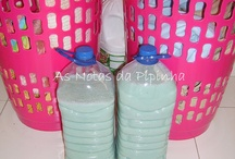 Detergentes caseiros- receitas / by Carla Clhda