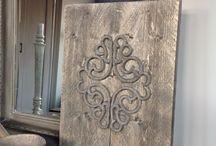 Steigerhout / hout decoratie