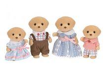 Sylvanian Families Rodzina Biszkoptowych Labradorów / Wyjątkowe zabawki dla dzieci marki Sylvanian Families