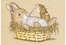 House mouse stamps. Happy hoppers & Gruffies, & Tutorials / by Julie Fullman