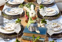 Easter inspired table settings