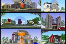 jasa-arsitektur / desain konsep, desain development, gambar kerja, shop drawing, as built drawing, 3d perspektif eksterior dan interior