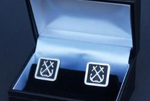 Pewter Cufflinks by stoneysbadges.co.uk