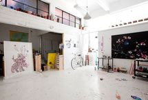 Dream studio spaces  / Oh to have the space and the light of these amazing rooms.