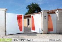 Portails Aluminium / ROCHE HABITAT propose 3 gammes de portails aluminium : Les Contemporains, Les Classiques, Les Traditions,  aux nombreux modèles et aux multiples déclinaisons, afin de répondre à  tous les besoins esthétiques. Chaque style est pourvu d'une identité propre : élégant, audacieux, design, le portail raconte une histoire dès l'entrée de la maison.