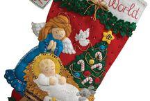 Christmas #4 - feltro e pannolenci