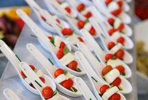 Food on spoons