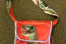 """MouthMan® Messenger Bags and More... / Hold onto your elbows!!   Made from our leftover scraps---Cool ....one of a kind MouthMan® branded satchels and bags featuring classic MouthMan® Raptor and T-Rex!  Can you say RRRawwcycled??"""""""