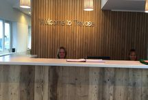 Trevose Golf Club / We supplied our Californian Boardwalk Pine for Trevose Office to clad the front of the reception desk.