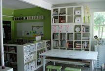 Home: Attic Studio / Ideas for the attic studio (my office, craft studio, kids studio): organization, style, colors, decor, organization