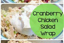 salade poulet canneberges
