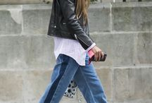 Cropped jeans flats shirt jacket
