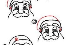 kerstman tekenen