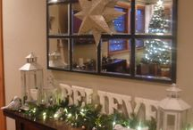 Xmas entryway tables