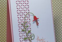 Cards - Die Cuts & Stencils / Cards that were made with dies or stencils