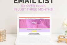 Blog + Email Lists