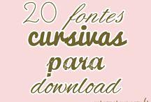 Fontes para baixar / by Vera Moraes