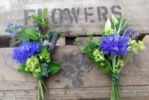 Client wedding: Blue in August / Wedding inspiration board for clients T&O.  Brief: blue,  particularly hydrangeas & cornflowers. Some white, a little green.  Timing: Late August