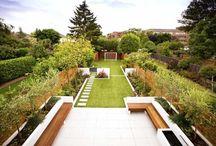 thin long garden