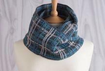 Crochet Infinity Scarves designed by Jane Burns