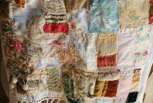 Textiles star quilt mending