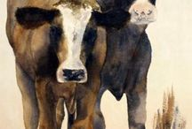 Cows to paint