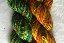 Merlin yarn / Merlin yarn is by hand- died by AvalonSprings Farm