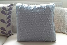 Crochet cushions / Pastel, cream, grey diamond crochet cushions sold on ebay. Can make bespoke items please email fyzafyzah@yahoo.co.uk