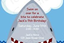 Shark birthday party / Noah's 3rd birthday