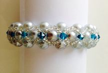 Hands Made  Montee Embellished Pearl Bracelet by Medita1craft