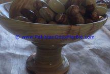 ONYX FRUITS BOWLS PLATE DISH PEDESTAL SATND ONYX APPLE PEAR GRAPES BANANA NEW DESIGN