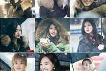 twice in the snow / twice during winter day