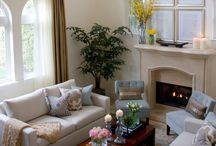 Staging with a fireplace / by Andrea Marshall