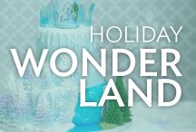 Holiday Wonderland / Frozen ice and falling snow, classic red and green or crystal blue, here's sweet inspiration for a Winter Wonderland. From Thanksgiving to Christmas and New Year's too, we've got you covered with cake ideas for a joyful holiday season.