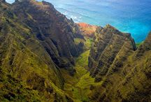 Nā Pali Coast, Kaua'i, Hawai'i / The NaPali coastline on Kauai is known for its epic beauty. From peaked cliffs to shoreline, check out what makes Kauai so unique.