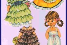 кукла бумажная