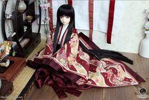 Dolls In Japanese Kimono