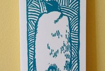 Lino cuts / Lion cut prints and things that could adapted