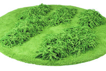 MOON CACTUS Wool Carpet - E&Y - 2003 / Conceptual flooring inspired by early spring grass. Moon Cactus is grass-green circular wool carpet, cut in different heights. Developed together with Nina Jobs.