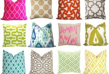 Graphic Throw Pillows / Even our dog has her own graphic throw pillows! They are awesome!