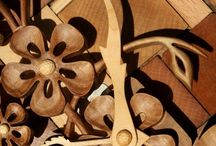 Wood carved clock