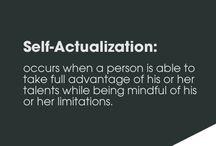 Self actualization / Selfvertroue