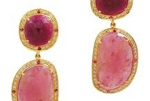 Earrings, drops, studs, chandeliers
