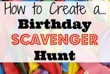 Carter 11th party scavenger hunt